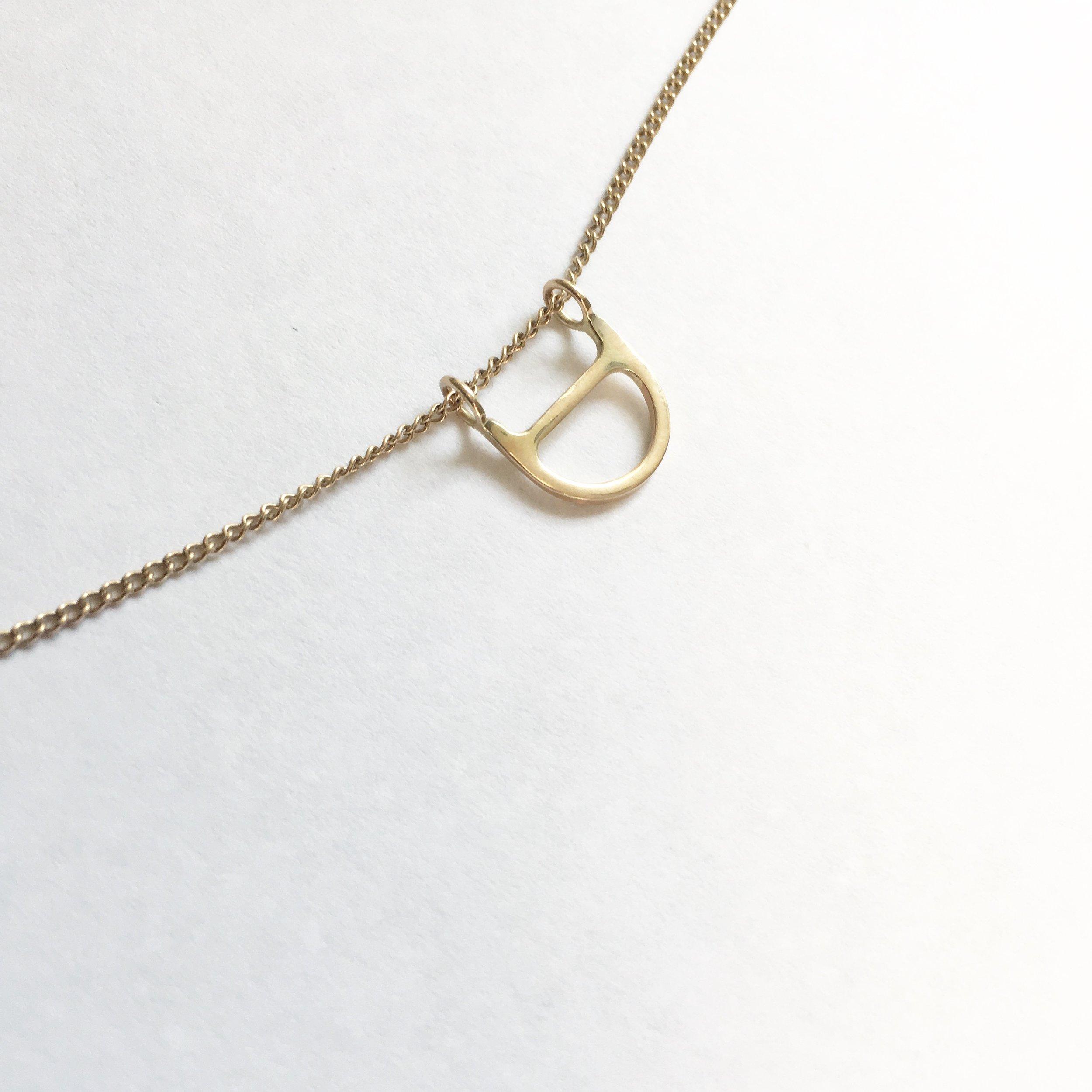 LUXE half round necklace
