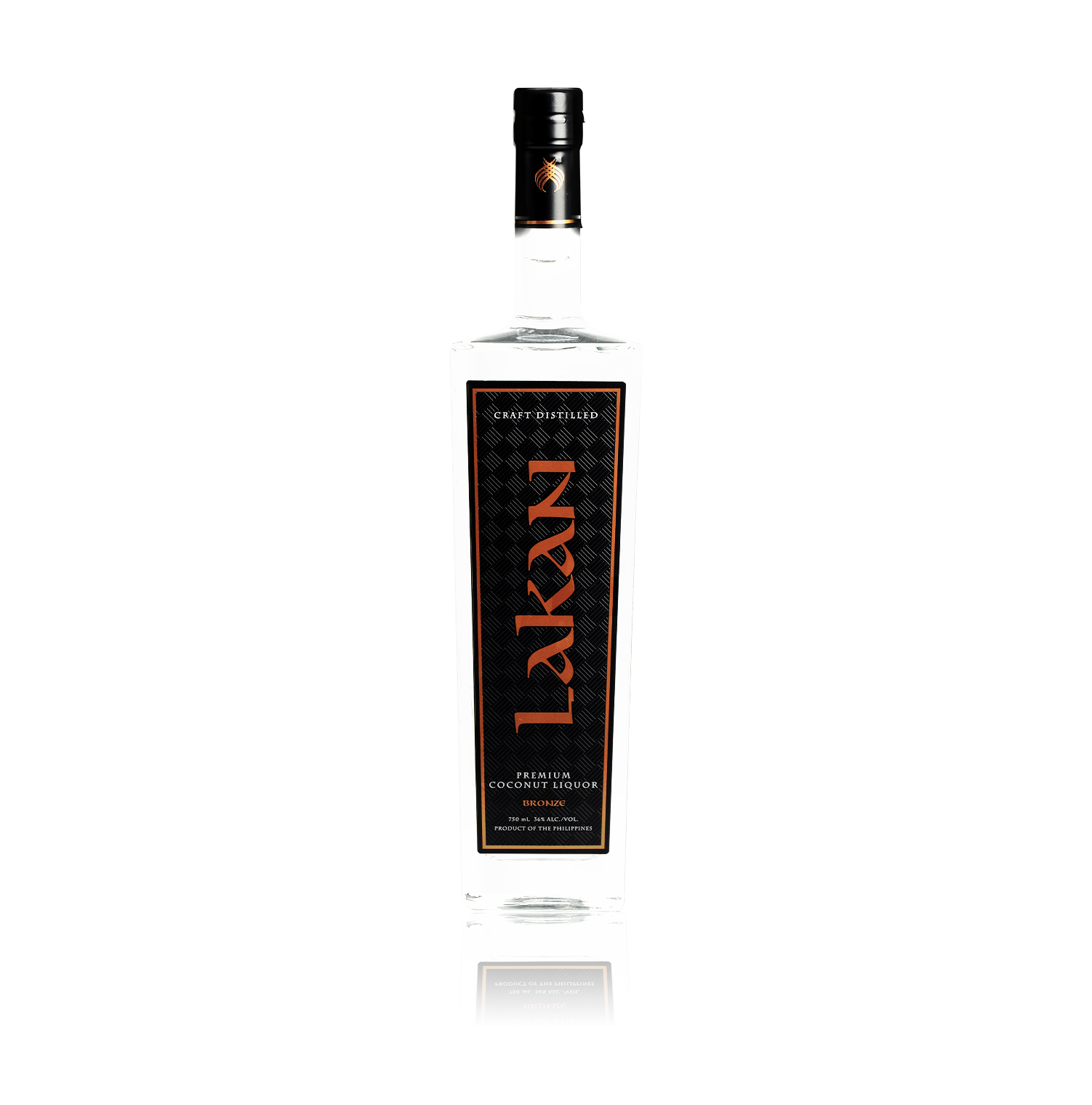 Lakan Bronze is a coconut-based neutral liquor craft distilled by our Master Artisan in small batches. Smooth with a hint of sweetness, this versatile liquor mixes well with fruit, soda or tonic.  Mix it up and have it your way with a bottle of Lakan Premium Lambanog.  36 ABV 750ml 3x column distilled
