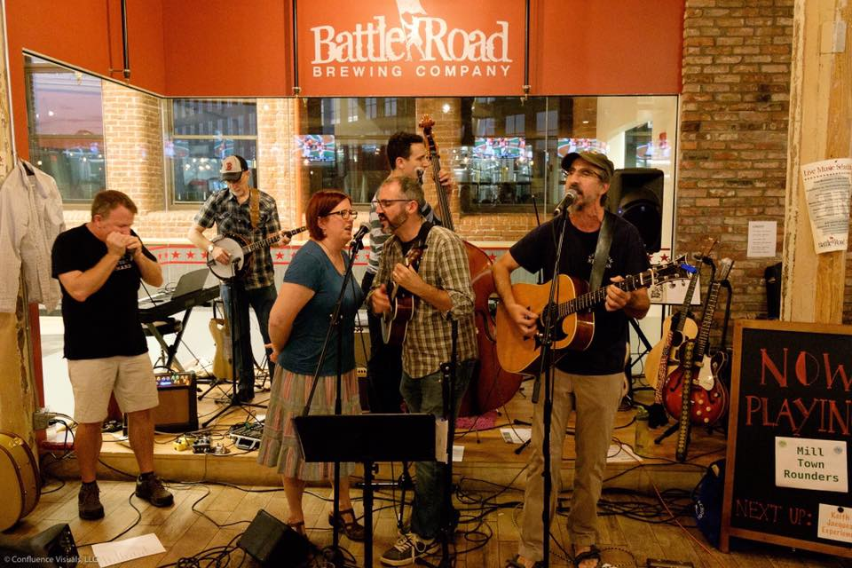 Mill Town Rounders at Battleroad Brewery in Maynard, MA.