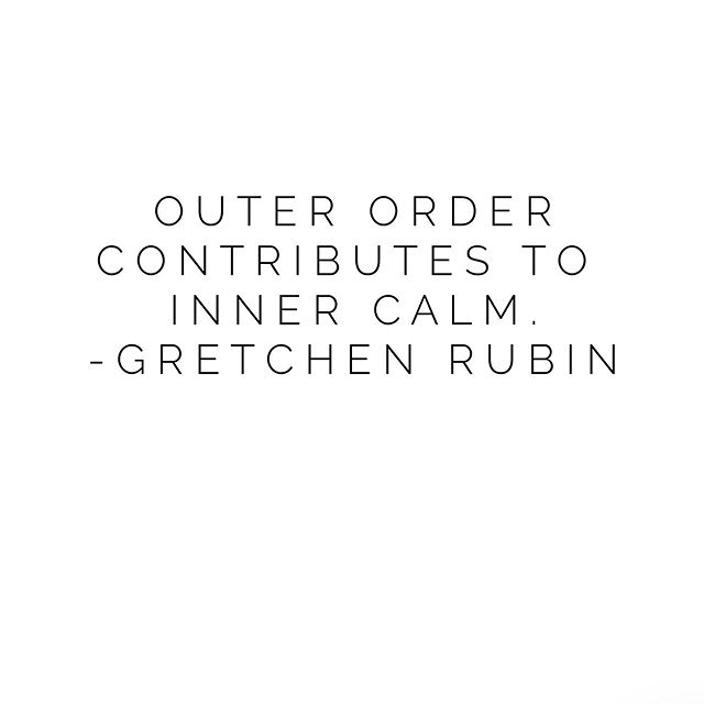 Being organized benefits you in more ways than one! Looking forward to reading @gretchenrubin's new book 📖 Outer Order, Inner Calm: Declutter and Organize to Make More Room for Happiness