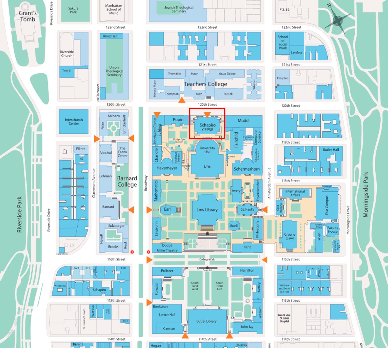 CAMPUS MAP AND LOCATION — Columbia Nano Initiative