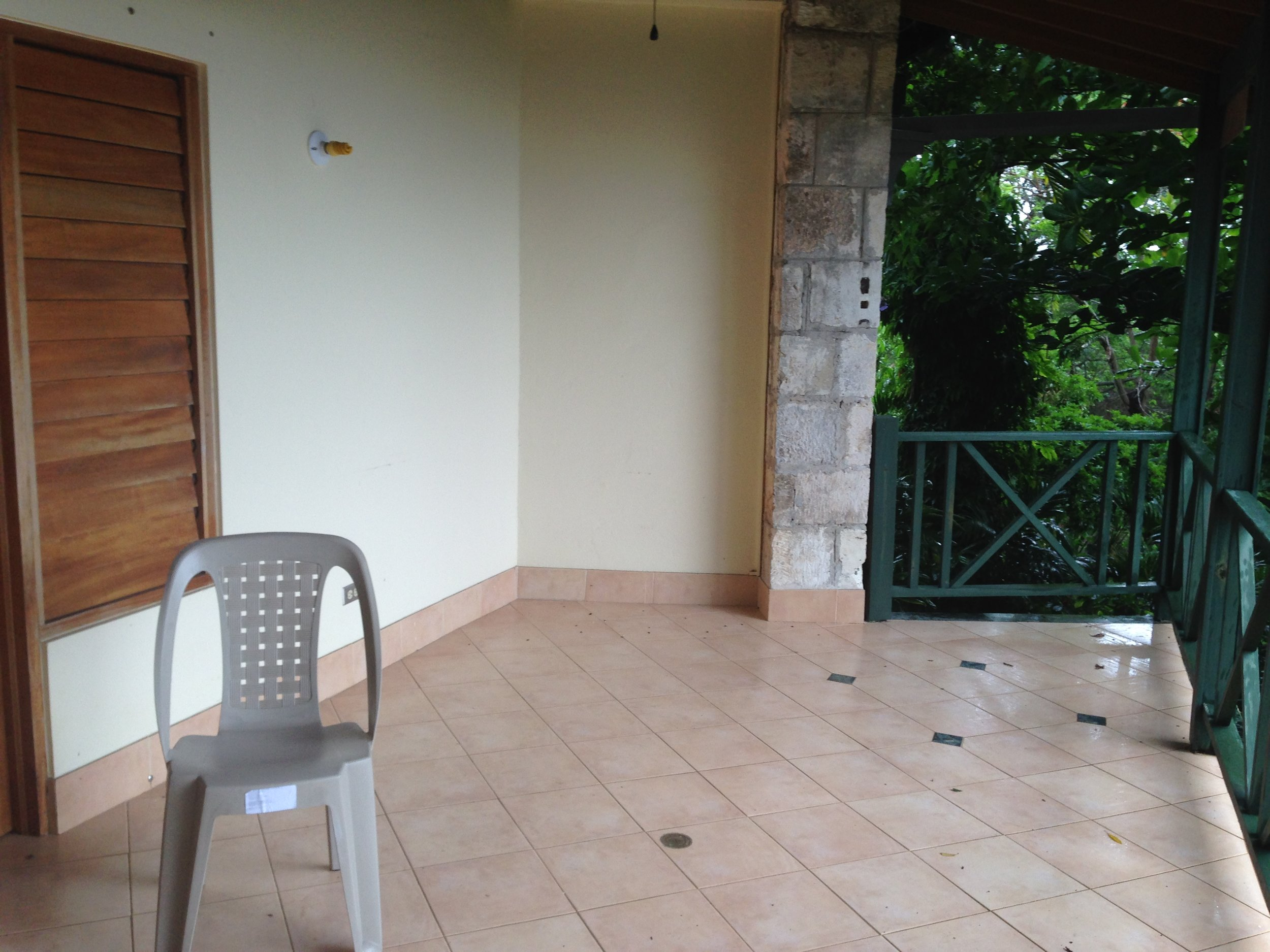 Before shot of the verandah, which faces the beautiful Montego Bay.