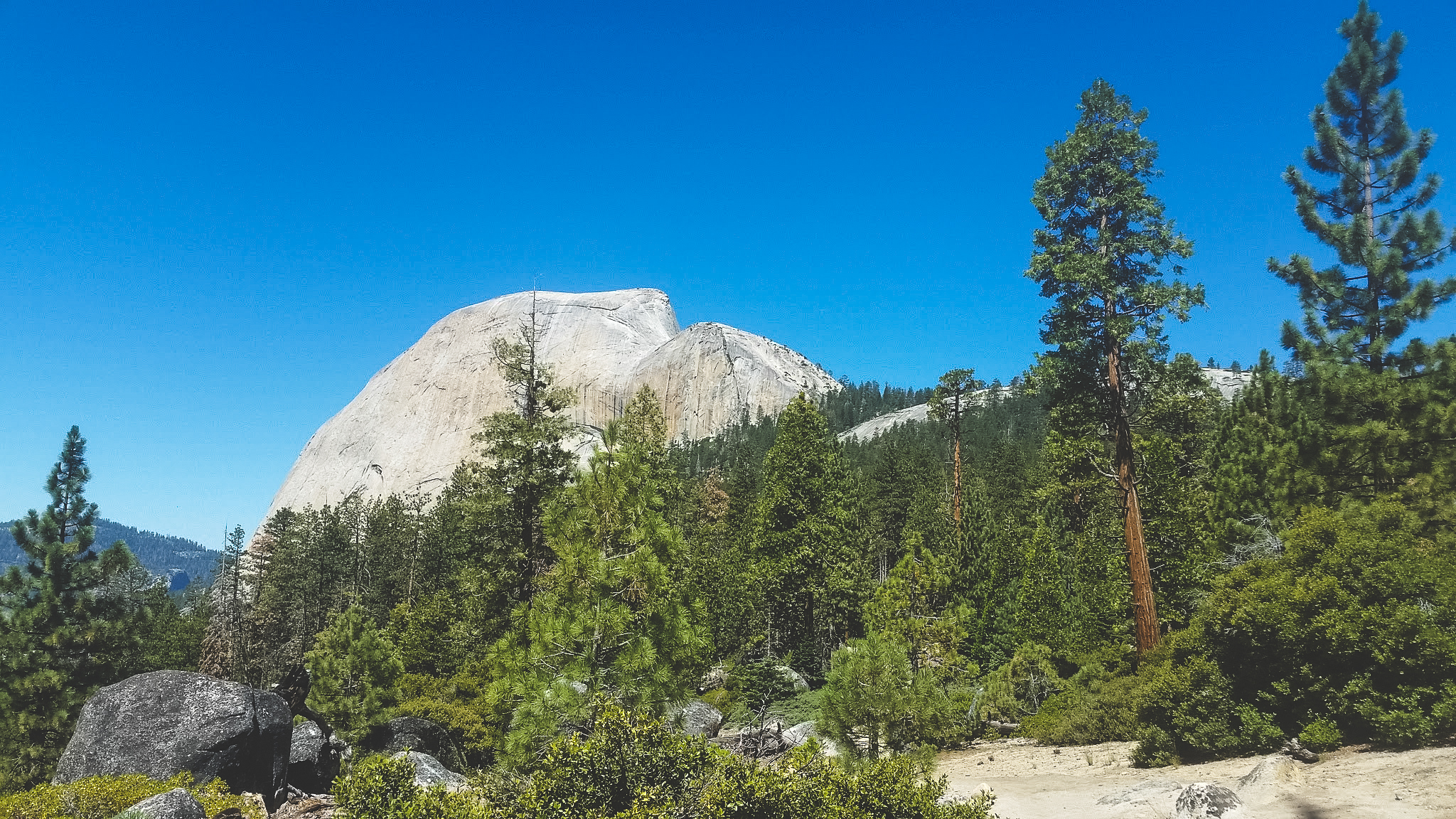 Getting farther from Half Dome