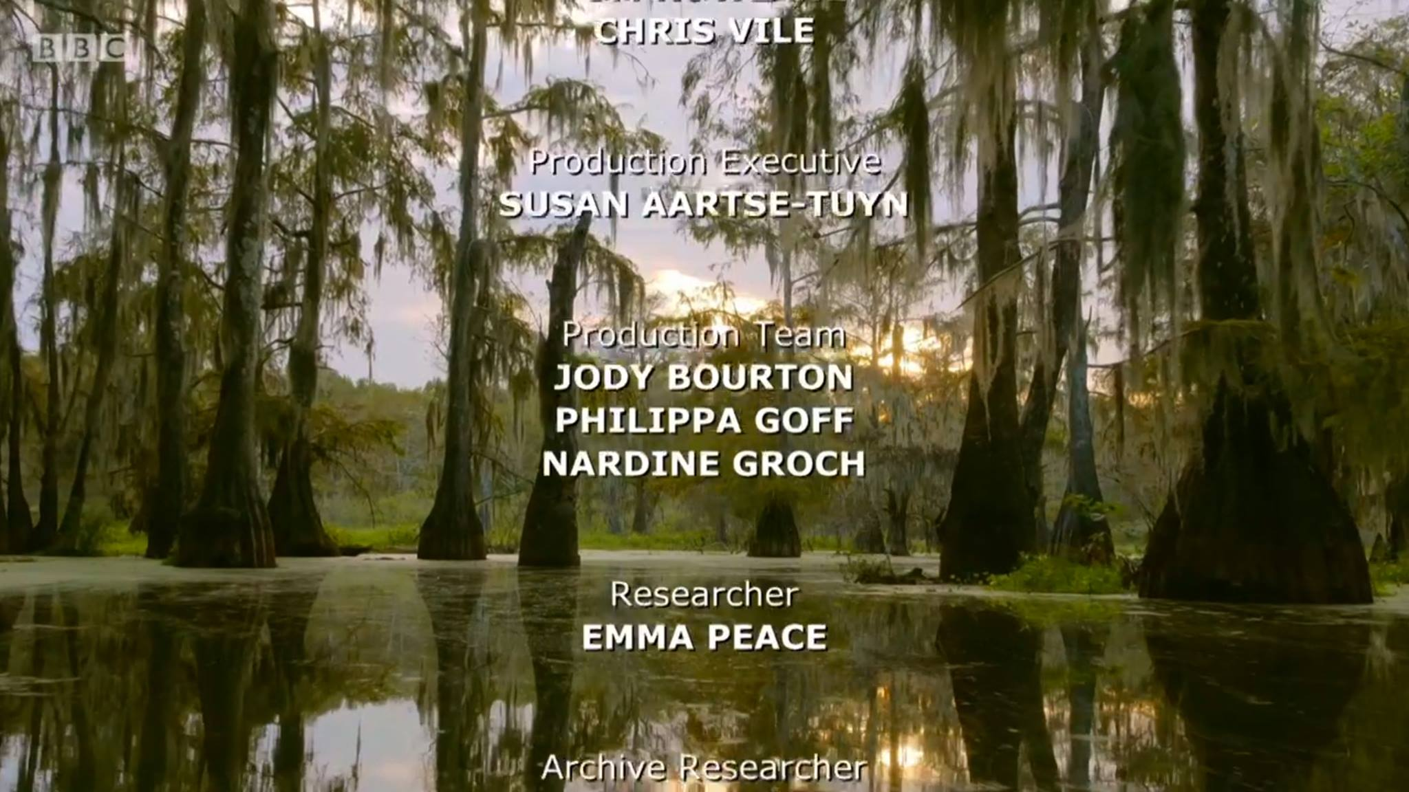 STORY LOGGER   BBC NHU's  EARTH'S GREAT RIVERS-  MISSISSIPPI -     Logged hours of rushes into pre-edit wildlife scenes and began to block out narrative structures in Premiere Pro and transcribed interviews under the supervision of producer Simon Blakeney.