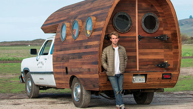 Jay Nelson with camper creation