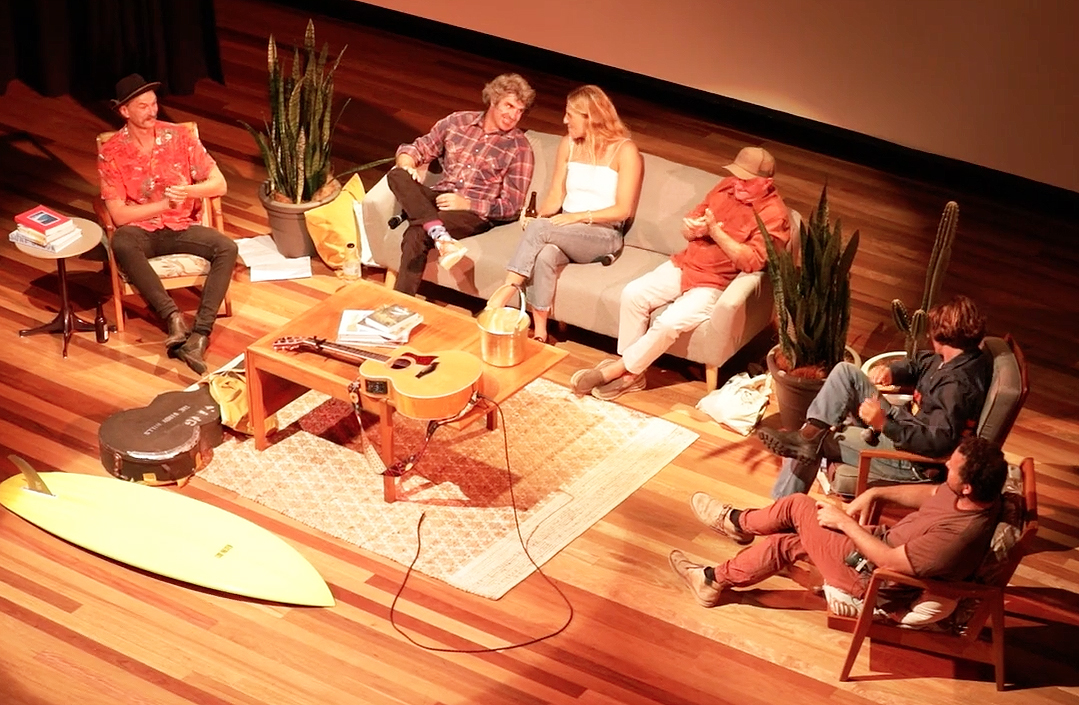 Surf Legend's Lounge epic setup by North Coast Events, Northern Rivers Plant Hire, Frank & Joy, and Wandering Folk