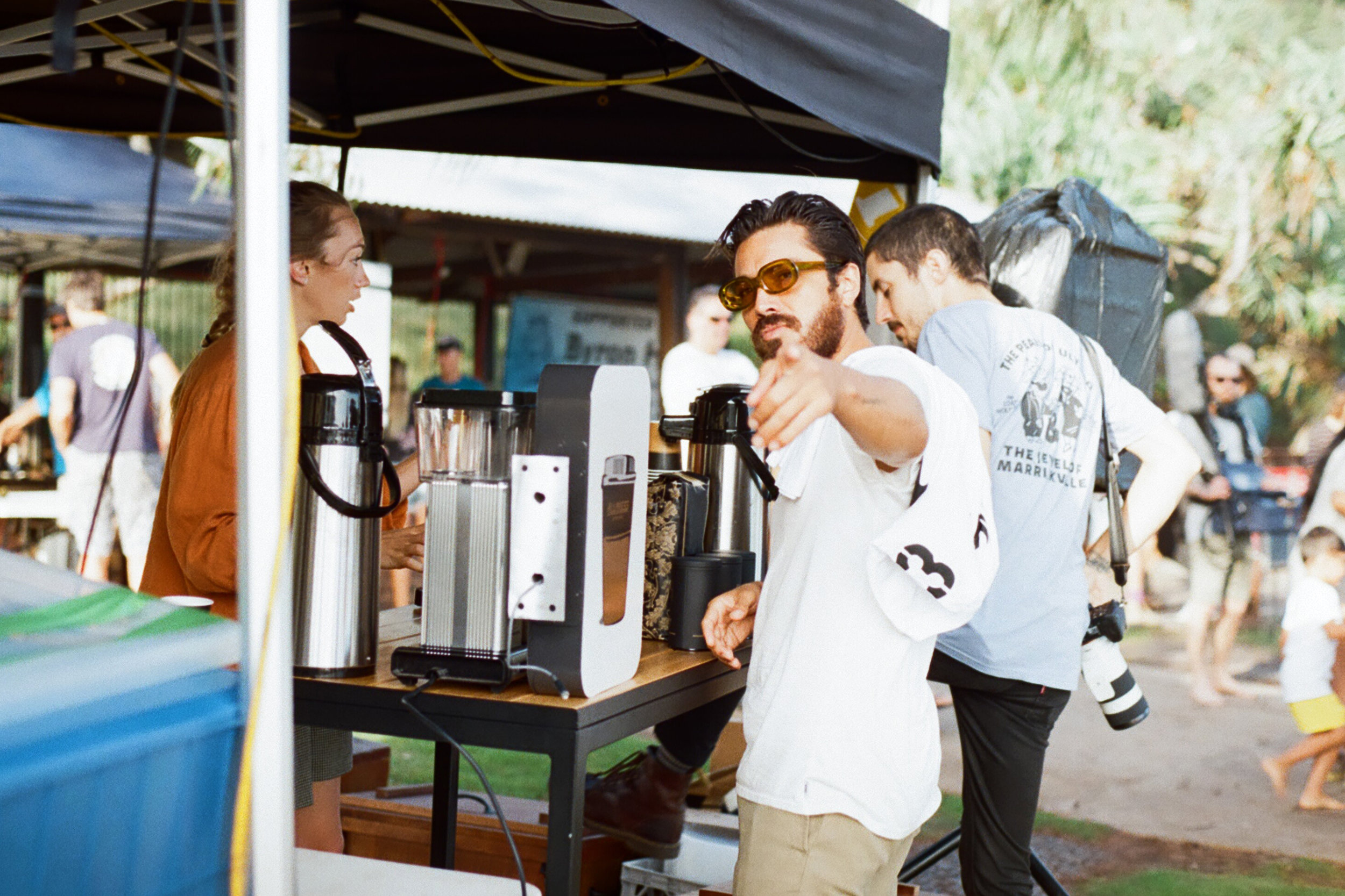 Allpress Coffee with Jared Mell at the Freestyle & Stoke Surf Sessions. Da best beans everr! Photo by @dreamingcaterpillar @bayou_film @mctavishsurf