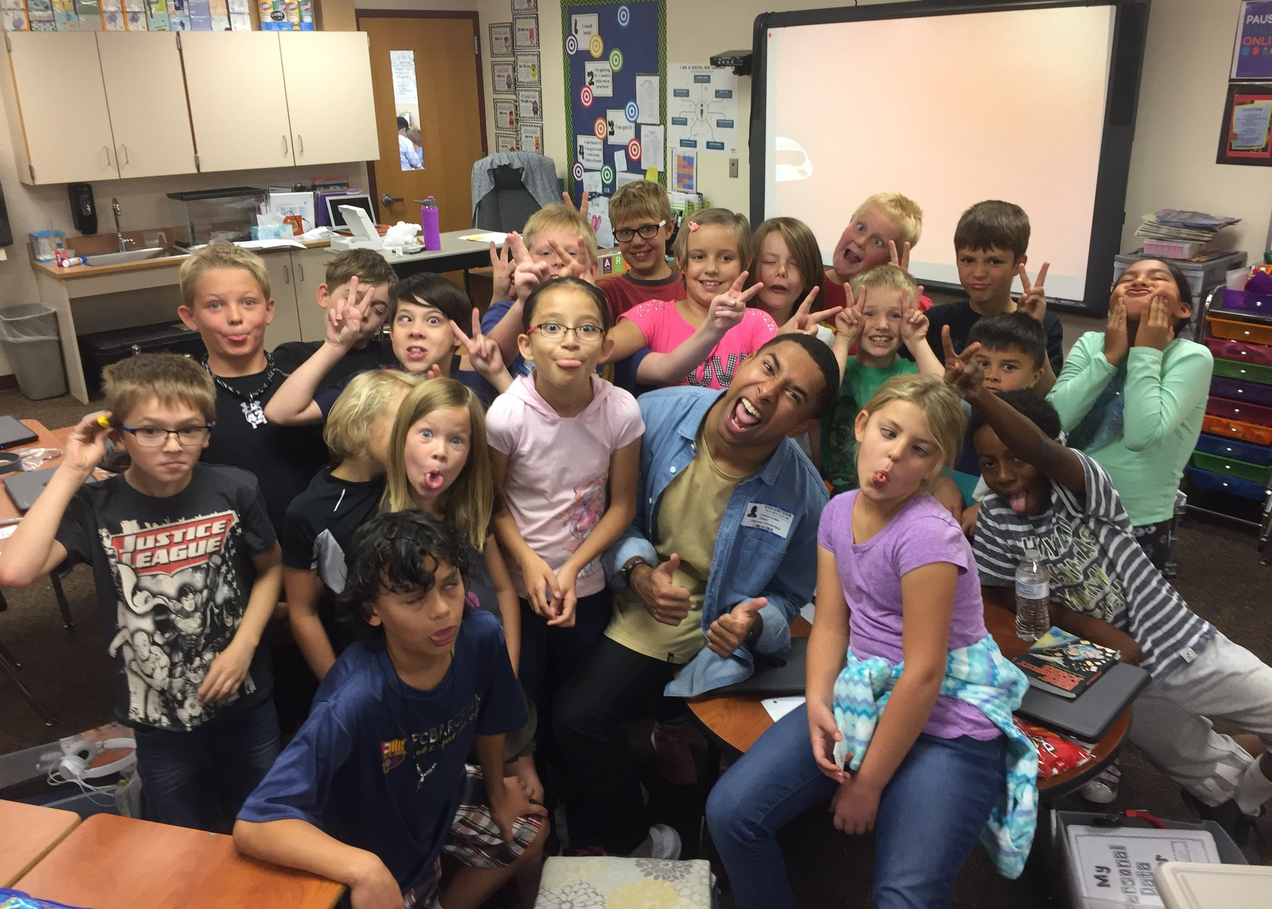 Students from Mrs. Willis' 4th Grade class at Odyssey Elementary School