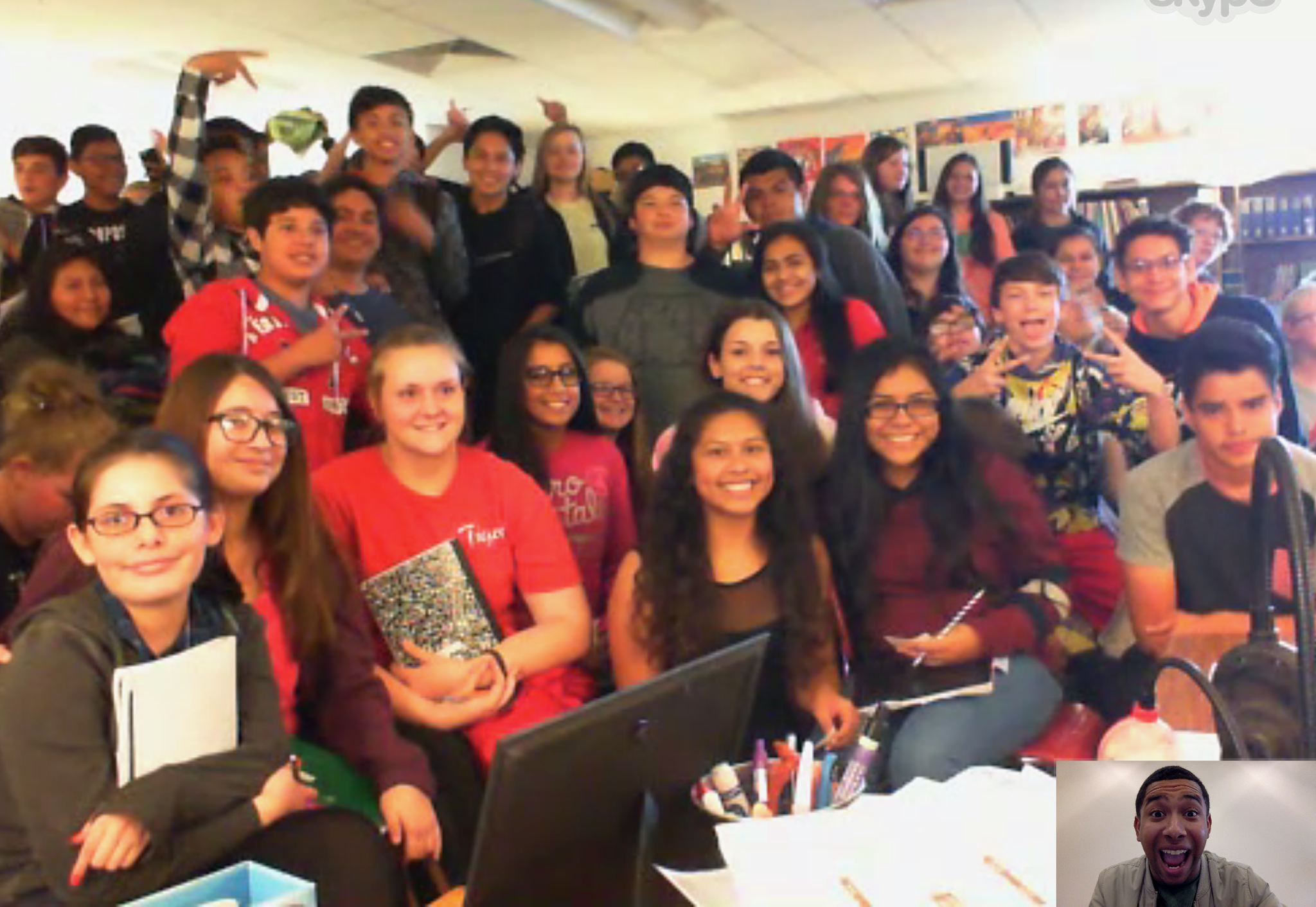 8th graders at Green Forest Middle School (AR)