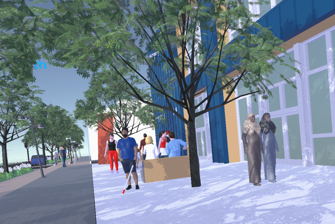 Green Loop VR - With City of Portland Bureau of Planning and Sustainability.  Develop and deploy a VR experience designed to elicit public engagement with city planning.