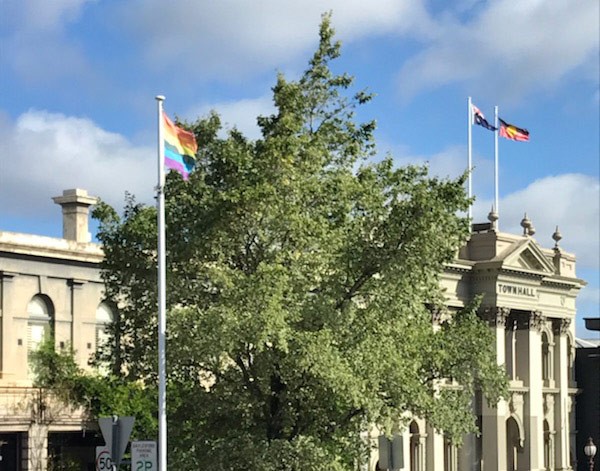 Flying the Rainbow Flag - The rainbow flag, a symbol of LGBTI pride, is a common sight in Daylesford today, with shop owners and many locals proudly displaying their support of the LGBTI community. However, this was not always the case.