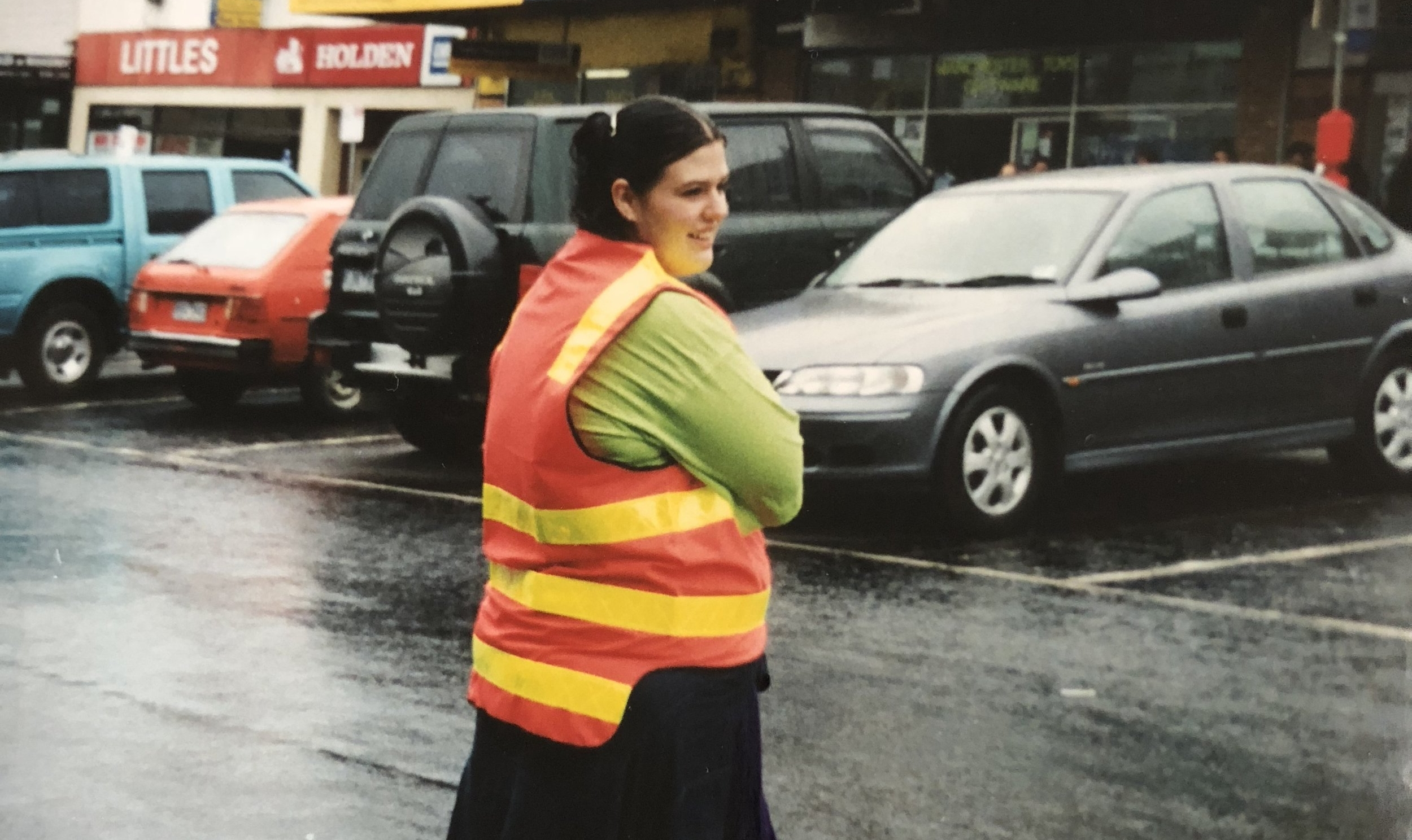 Natalie Moynihan volunteering for her first ChillOut Street Parade 2003.jpeg