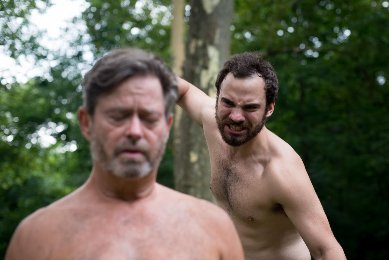 John L. Payne as Claudius and Jake Austin Robertson as Hamlet