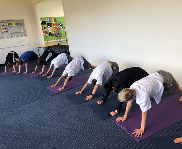Friday yoga with Year 7 boys, such a great way to finish the week - love it when the class teacher gets stuck in too Crow pose and the deep relaxation... we all need a challenge and a rest!  #yoga #yogainschools #yogamelbourne @vicyoga_melbourne #yogaforboys #kidsyoga #yogaforkids #calmkids #zenkids #yogaandmindfulness #mindfulnessinschools #yogaforschools #kidsyoga