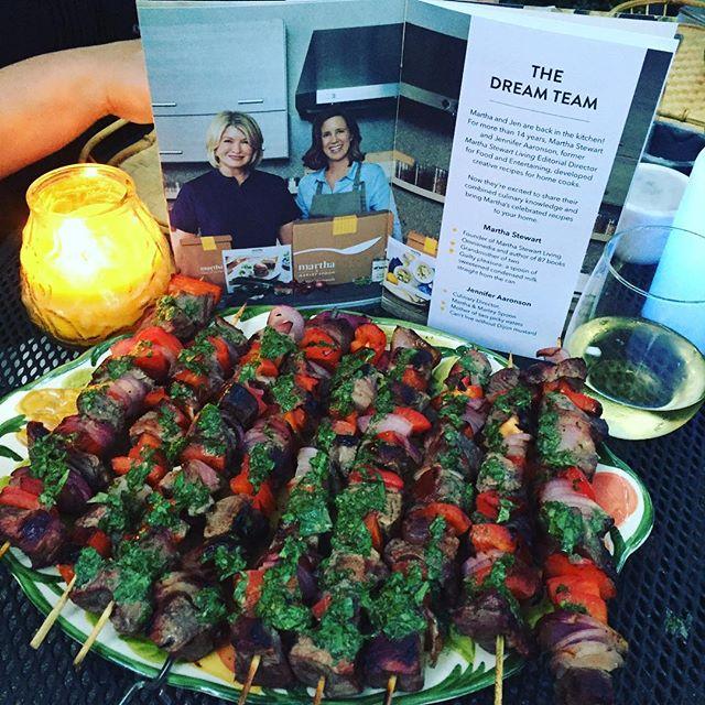 Dining w/ #marthastewart tonight! #marleyspoon