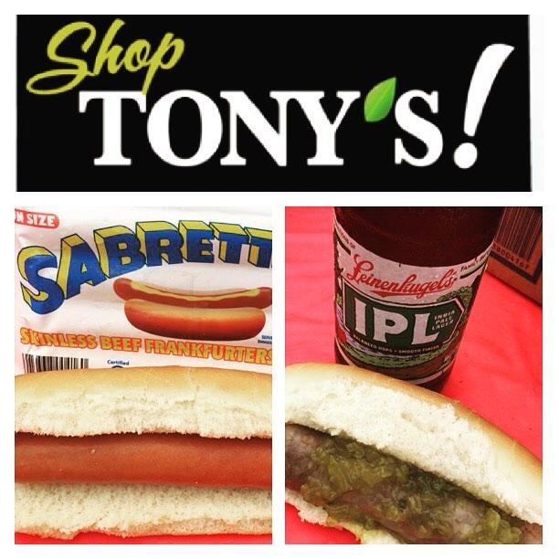 #tonysfreshmarket tent event ☀️ we served up #Sabrett hot dogs & #sheboygansausagecompany beer brats made w/ #leinenkugel #beastieboys