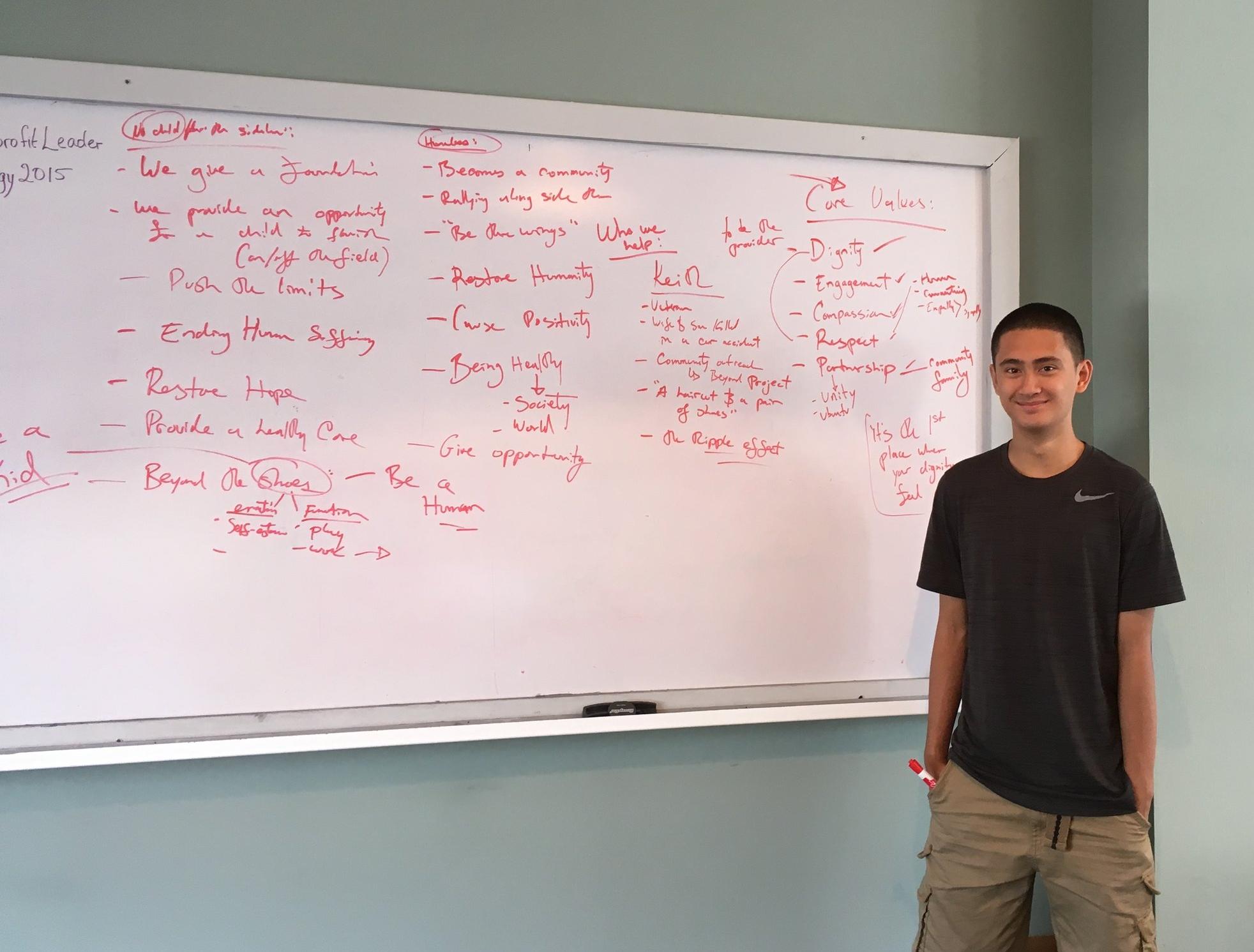 TIPS Intern Tristan, at his YNLO internship