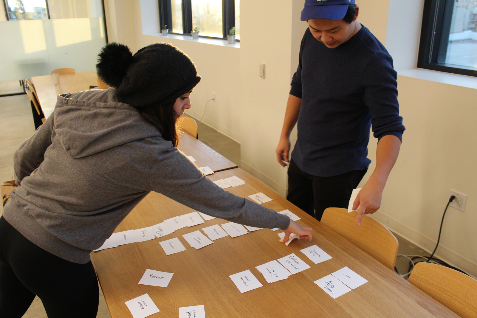 Card sorting helped me organize the navigation schema and information architecture