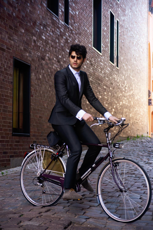Men's double cuff shirt cycling