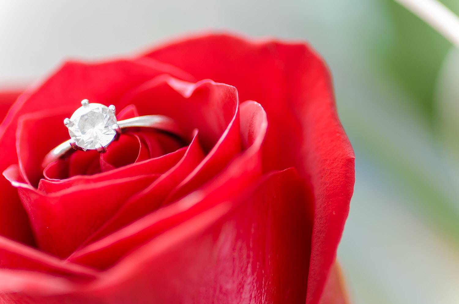 A diamond engagement ring gift