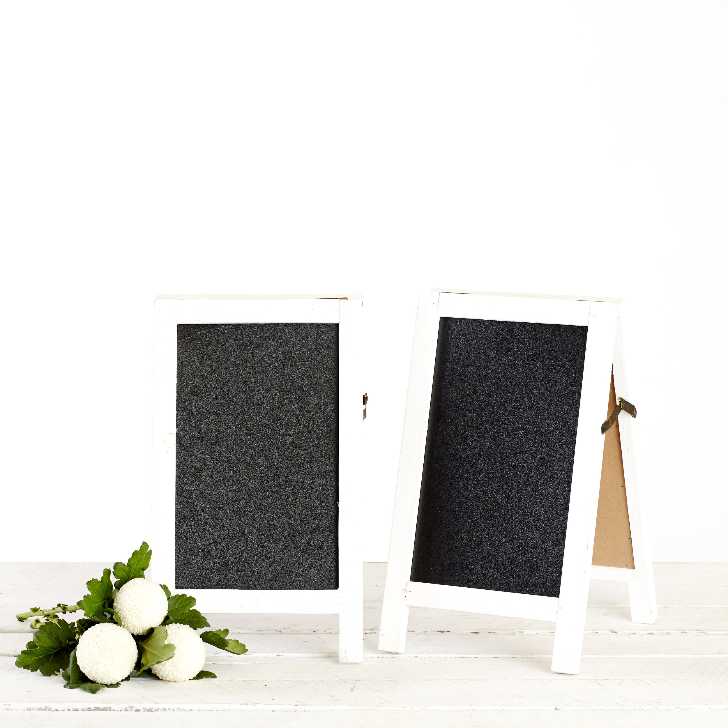DOUBLE SIDED TABLE CHALKBOARDS