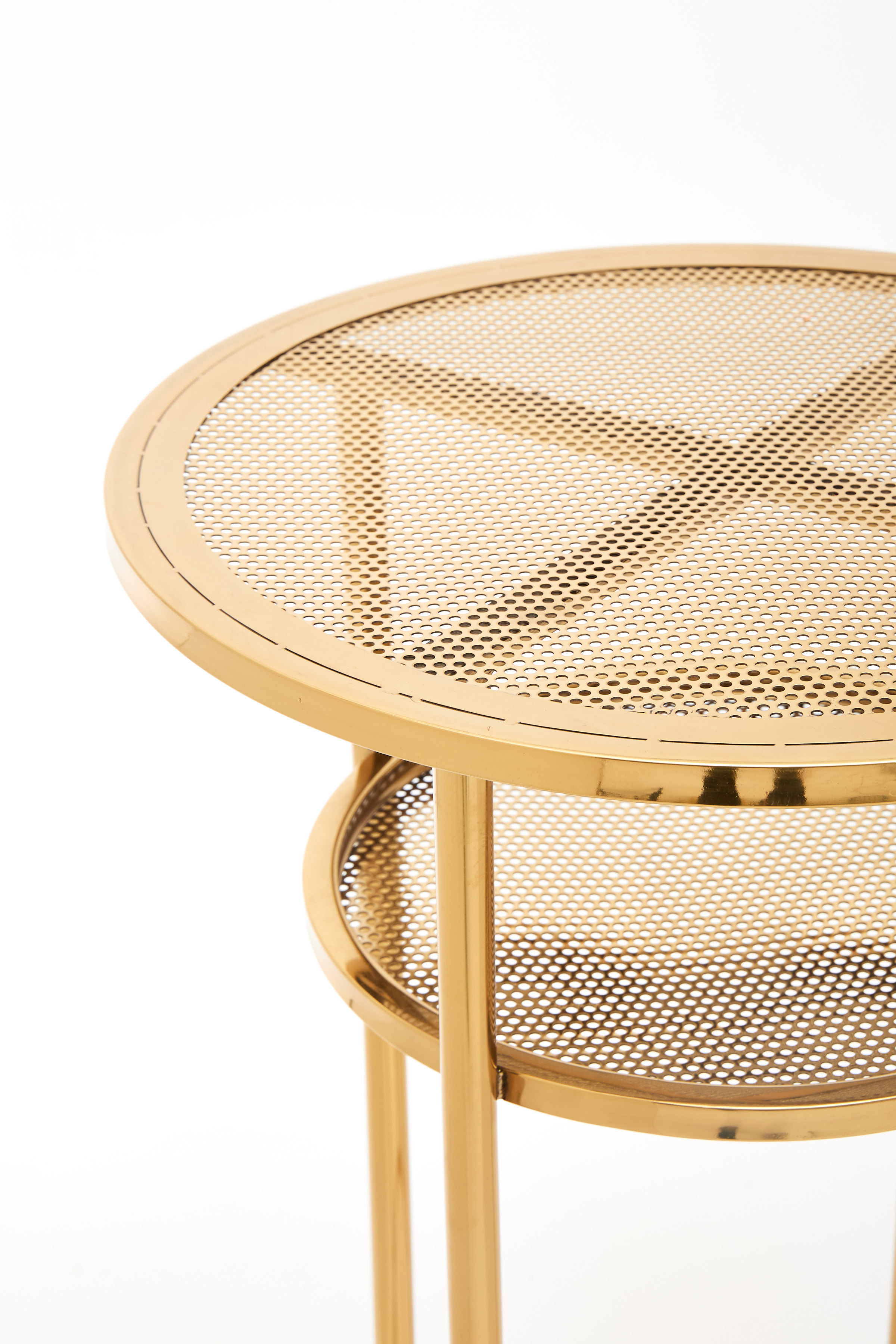 Round Gold Bar Tables Simply Seated