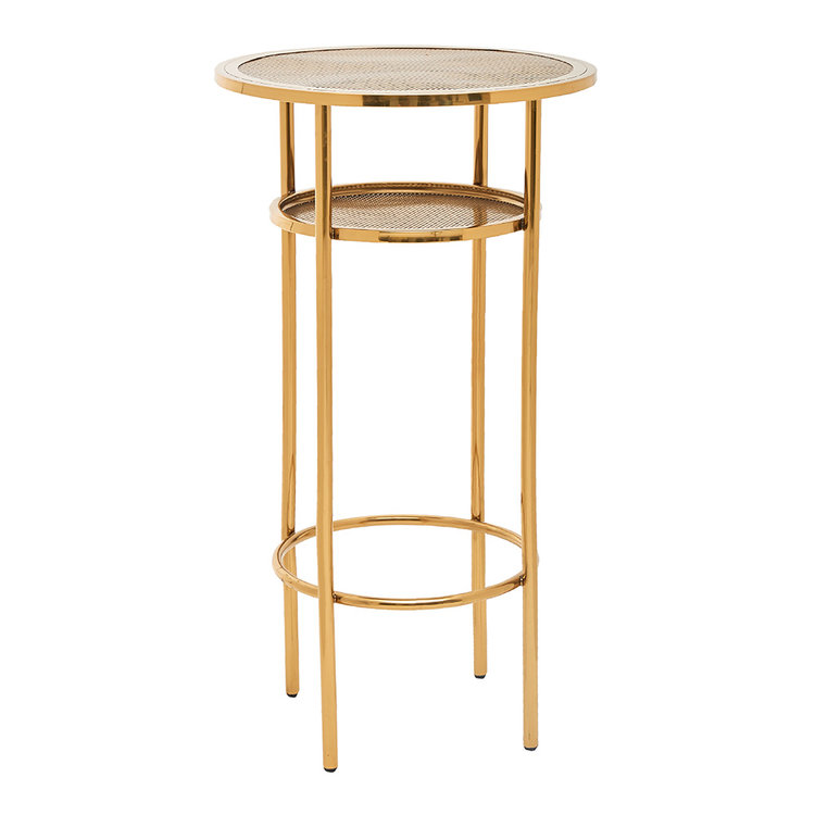 3 X BAR TABLES - GOLD