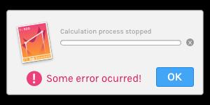 Figure B ) Structure calculation error