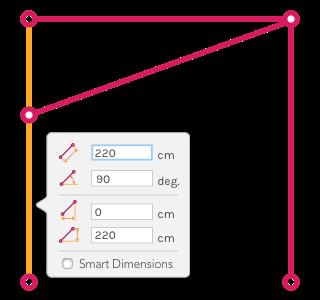 Figure B) Structure after left's column length edition