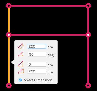 Figure B ) Structure after left column's length edition