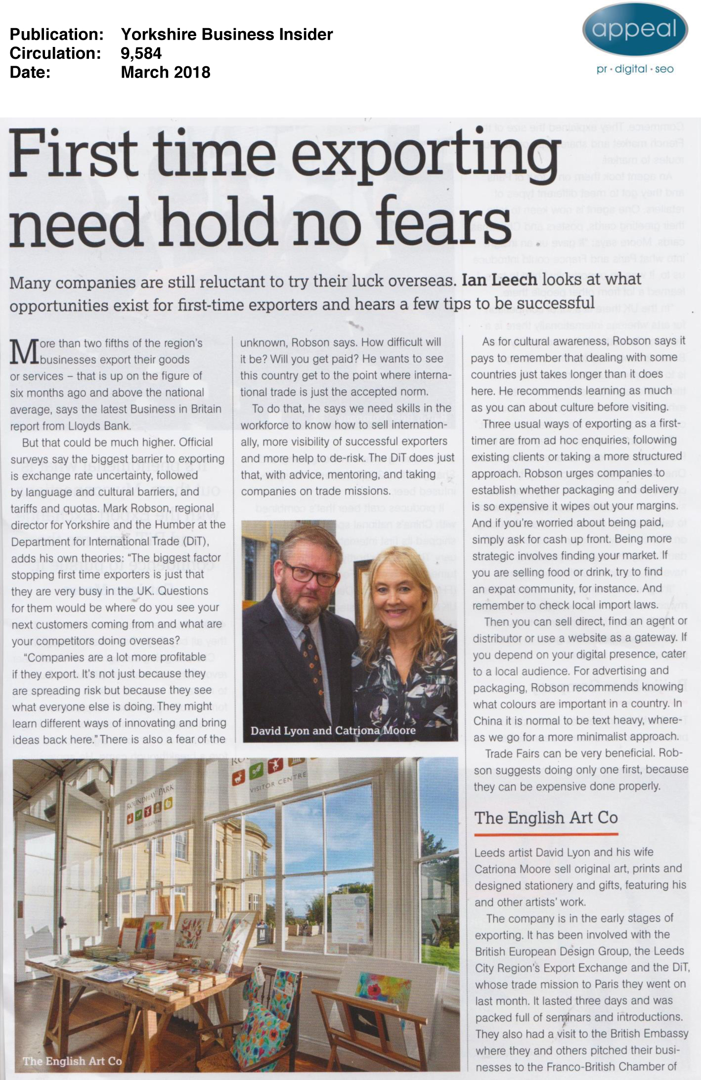 YORKSHIRE BUSINESS INSIDER - MARCH 2018 1/2