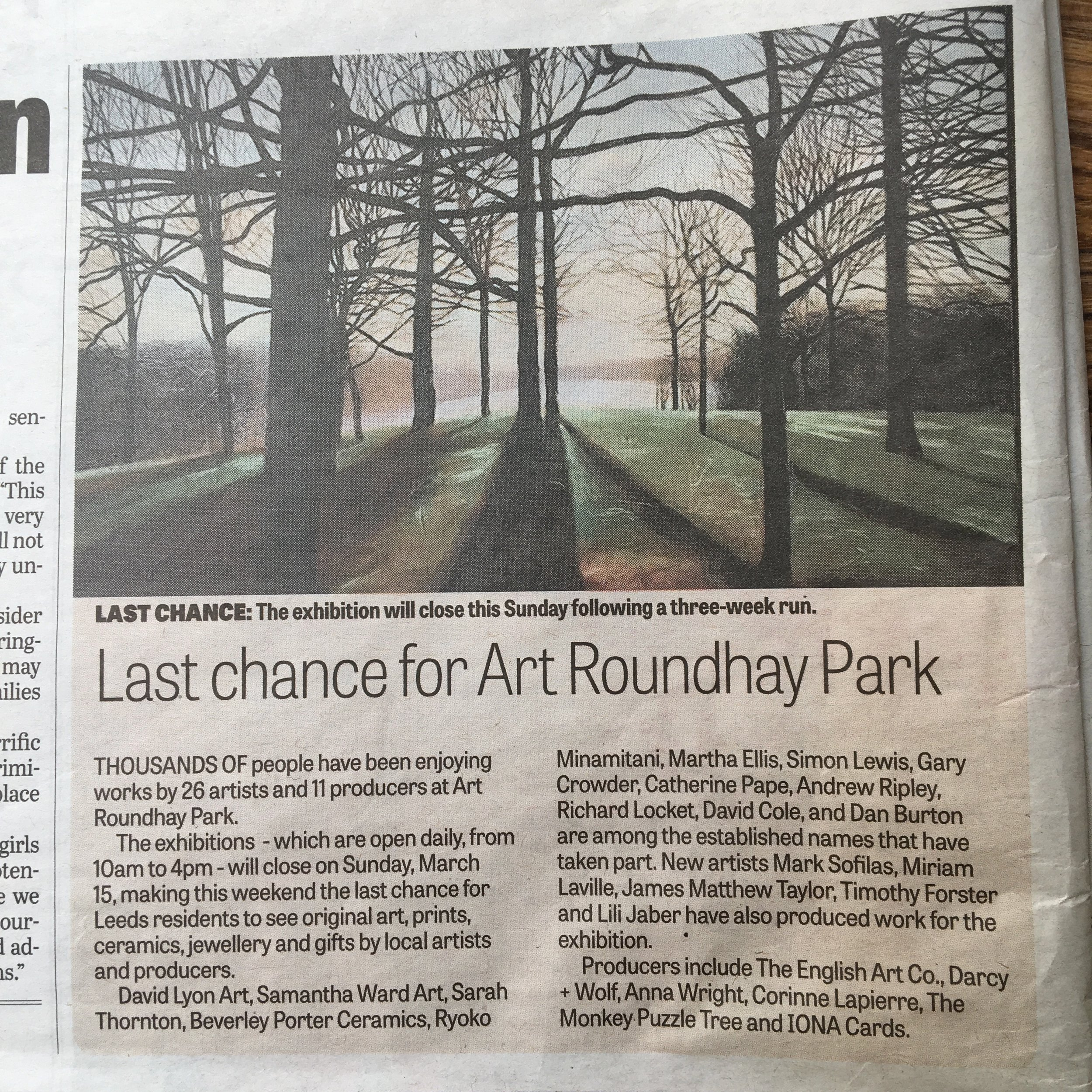 YORKSHIRE EVENING POST MARCH 2019