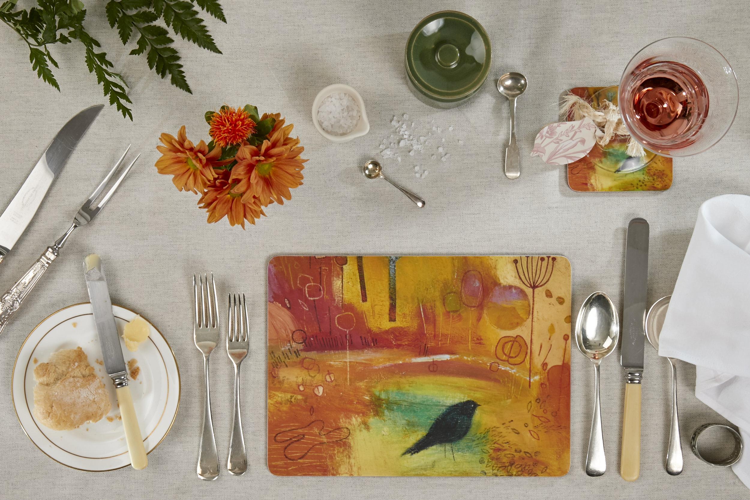 TABLE MATS - SET OF 4 - JUST ONE BLACKBIRD