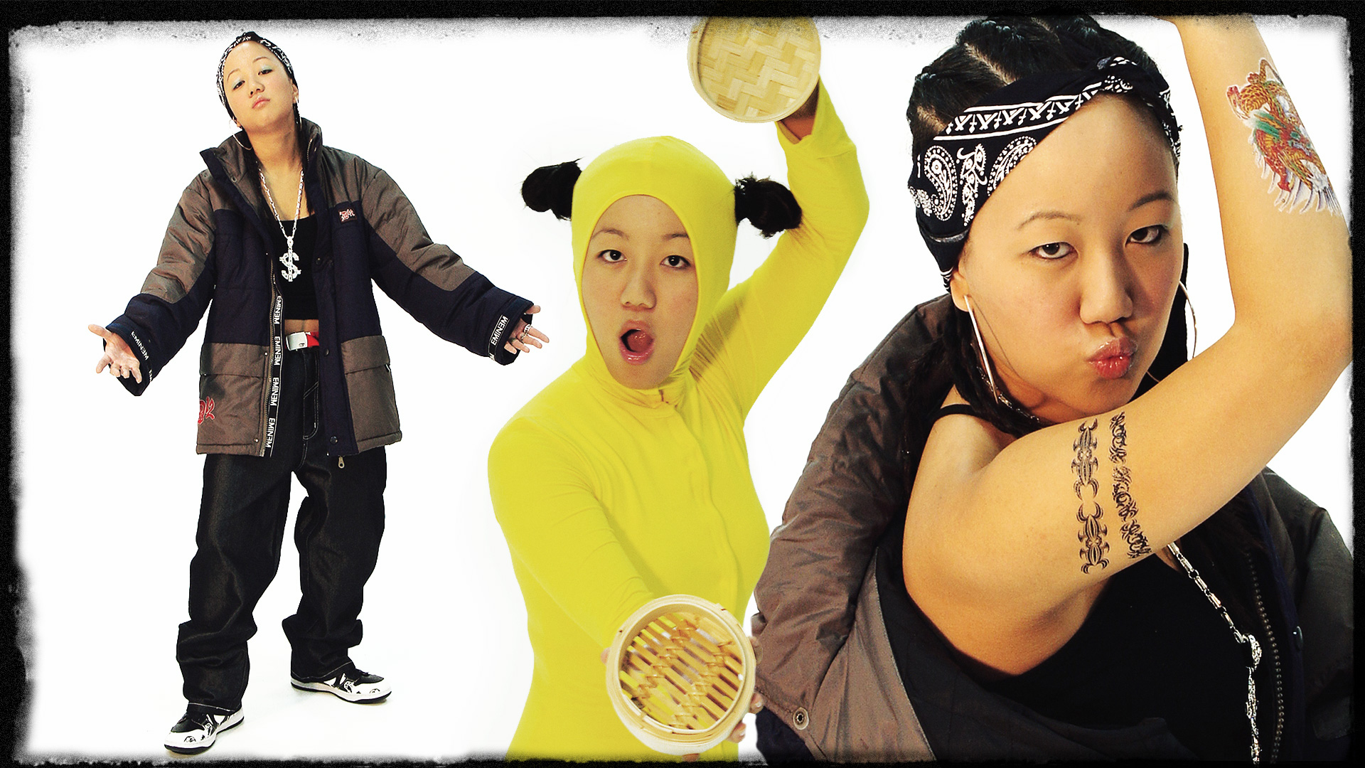 Yes. I did whatever the fuck I wanted at art school. This includes playing my alter egos –a 90's hip-hop star and a 'banana' (Westernised Asian). I swear this shit it's way deeper than you think!😂😂😂 Warning: GIRLS, NEVER, EVER OVER-PLUCK YOUR EYEBROWS!
