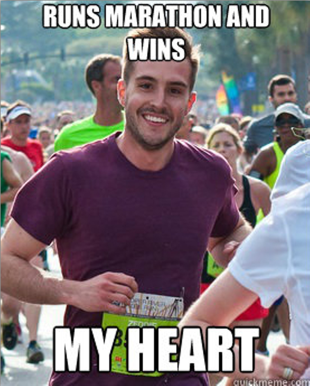The infamous ridiculously photogenic runner