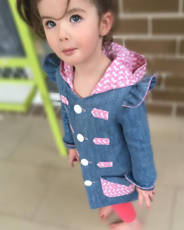 Cargie Threads - Miss Amie little girls denim jacket