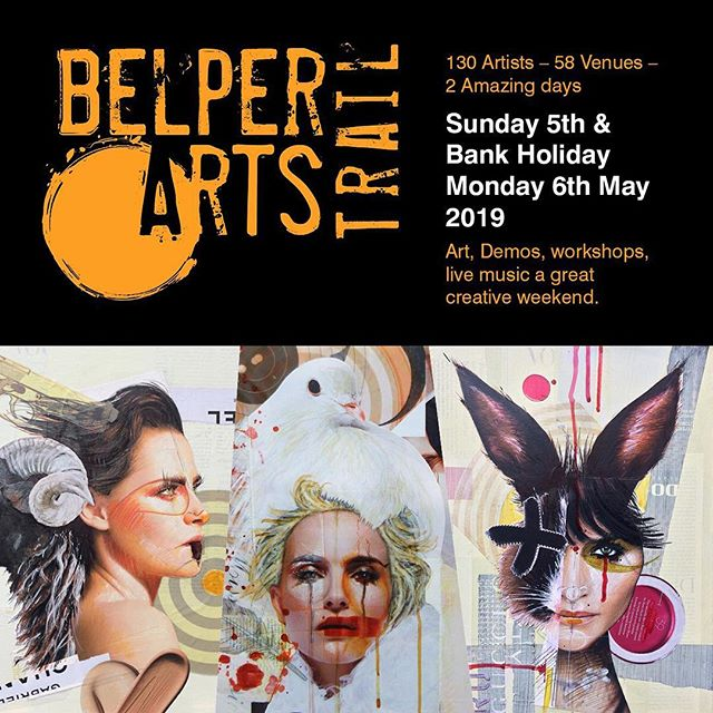 "This year I am participating in The Belper Arts Trail 2019....I'm at ""The House, 55 Chapel St"" .....come along and pay me a visit...... 130 artists will take up residence in 58 venues around the centre of town displaying and selling an enormous variety of art and crafts between  10.30am and 4.30pm on Sunday and Bank Holiday Monday 5th and 6th May. The venues are many and varied including many of Belper shops, cafes, churches, pubs and halls.  Entry to the Trail this year is slightly different as we introduce a wristband for access to all venues, sponsored by Nourish at No 44, and a brochure to accompany it with all the details of the Trail, where artists are and the all important map.  #artstrail #exhibition #artist #belper #derbyshire #collage #art #nourish44 #belperartstrail #belperderbyshire #fleetartsbelper"