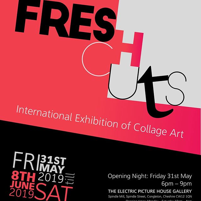 So a great night last night at the opening of 'FRESH CUTS' international collage show @electricpicturehouse in Congleton... great to see some enthusiastic faces @samcollaged @markwatkins64 @petralea_art good time was had by all... some fantastic and diverse collage art on display.... #collageart #art #exhibition #diversecollage #collage_expo #collage_collective #collagistescollective #artforourtime #beyondthepicturegallery