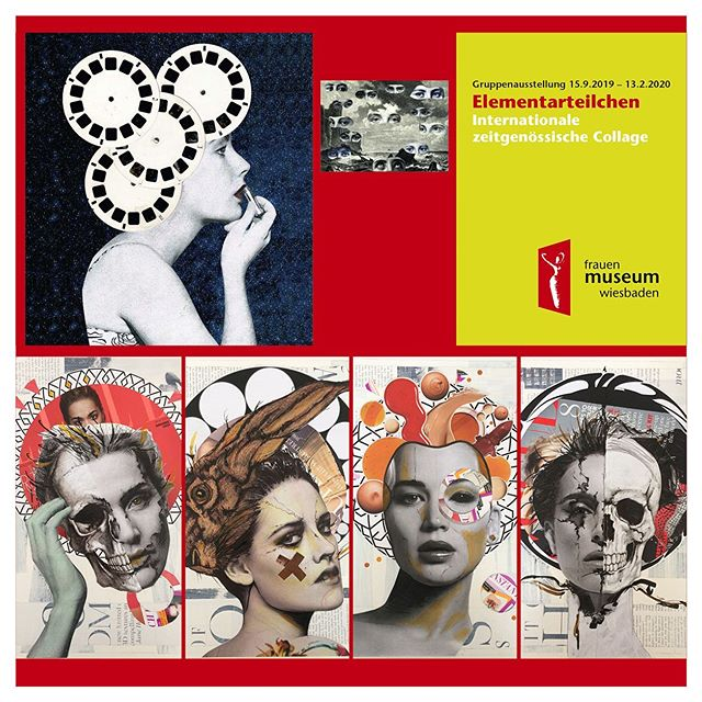 So this time next week I'll be in Germany, Wiesbaden..... involved in this great exhibition organised by the very talented María Elisa Quiaro Maggiorani ...... 13 women artists presenting their collage pieces at The Womens Museum Wiesbaden https://www.frauenmuseum-wiesbaden.de If you are in the area of Wiesbaden, Germany. You are more than welcome come to the opening of the exhibition at the Frauen Museum. The show will be running until February 2020. Lane - Arianne Cristiel - Isabel Reitemeyer - Olivia Descampe - Clare TwentyMillion - Susan Lerner - Rhed Fawell - Olga Lupi - Marisa Maestre - Susanna Lakner -Sabine Remy - Maria Eugenia Conde Fernandez - María Elisa Quiaro  The art pieces of the invitation card, belong to Arianne Cristiel and Maria Elisa Quiaro