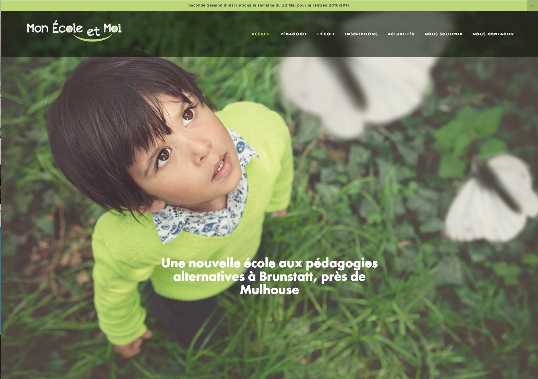 Site Internet - Newsletter - Logo - Identité visuelle.  Mon École et Moi - Pédagogies Alternatives