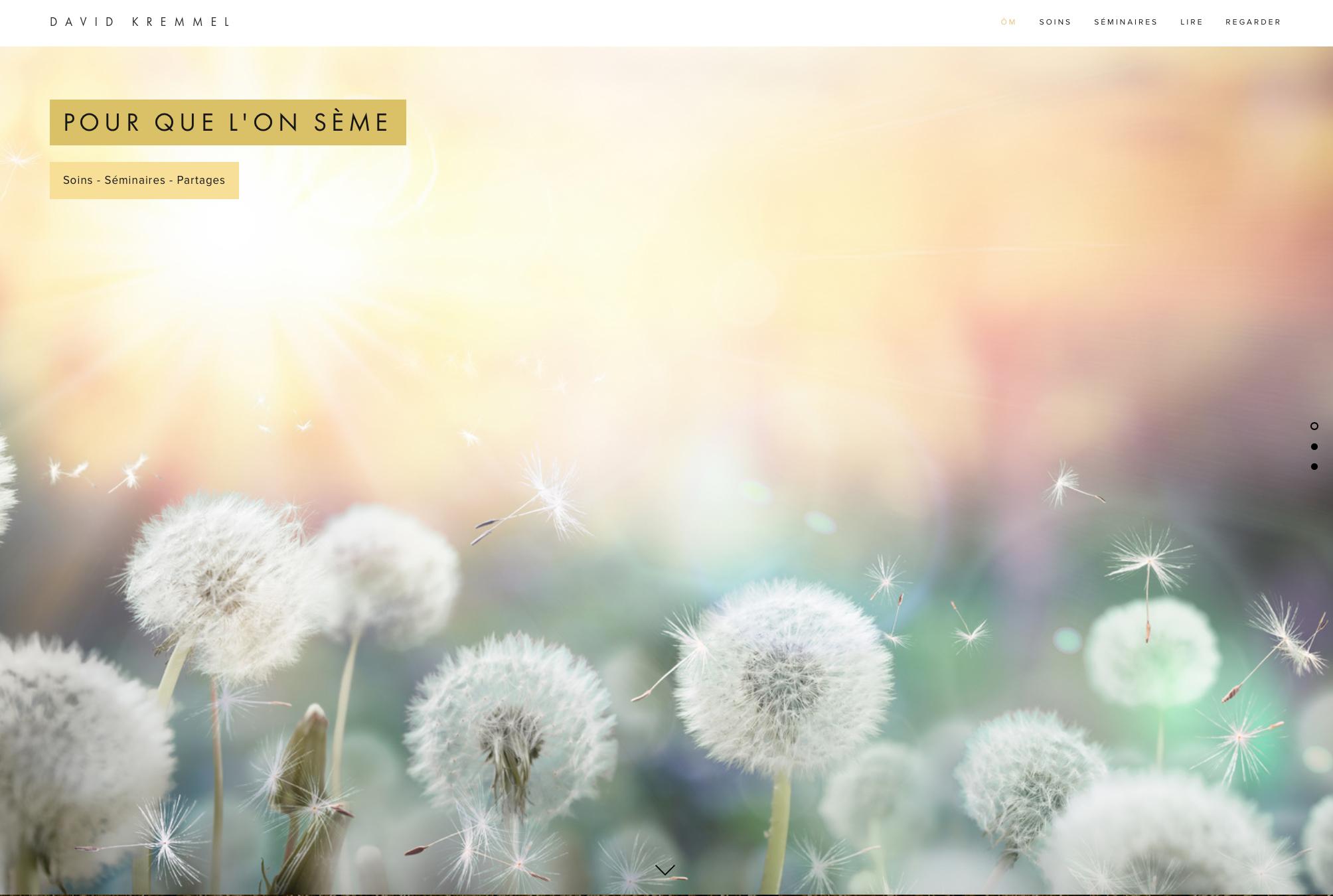 Site Internet - Newsletter -  Pour que l'on sème - Soins Esséniens