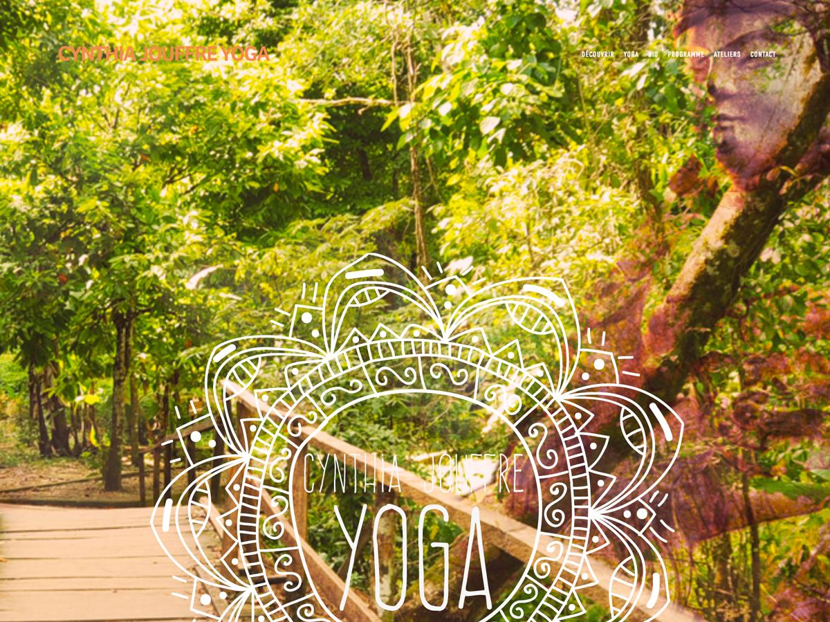 Site Internet - Identité Visuelle - Photos/Vidéos.  Cynthia Jouffre Yoga