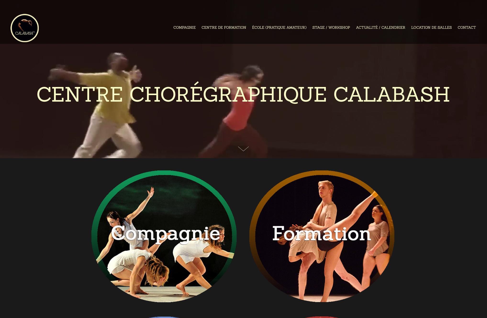 Site Internet (Refonte complète)  Compagnie Calabash