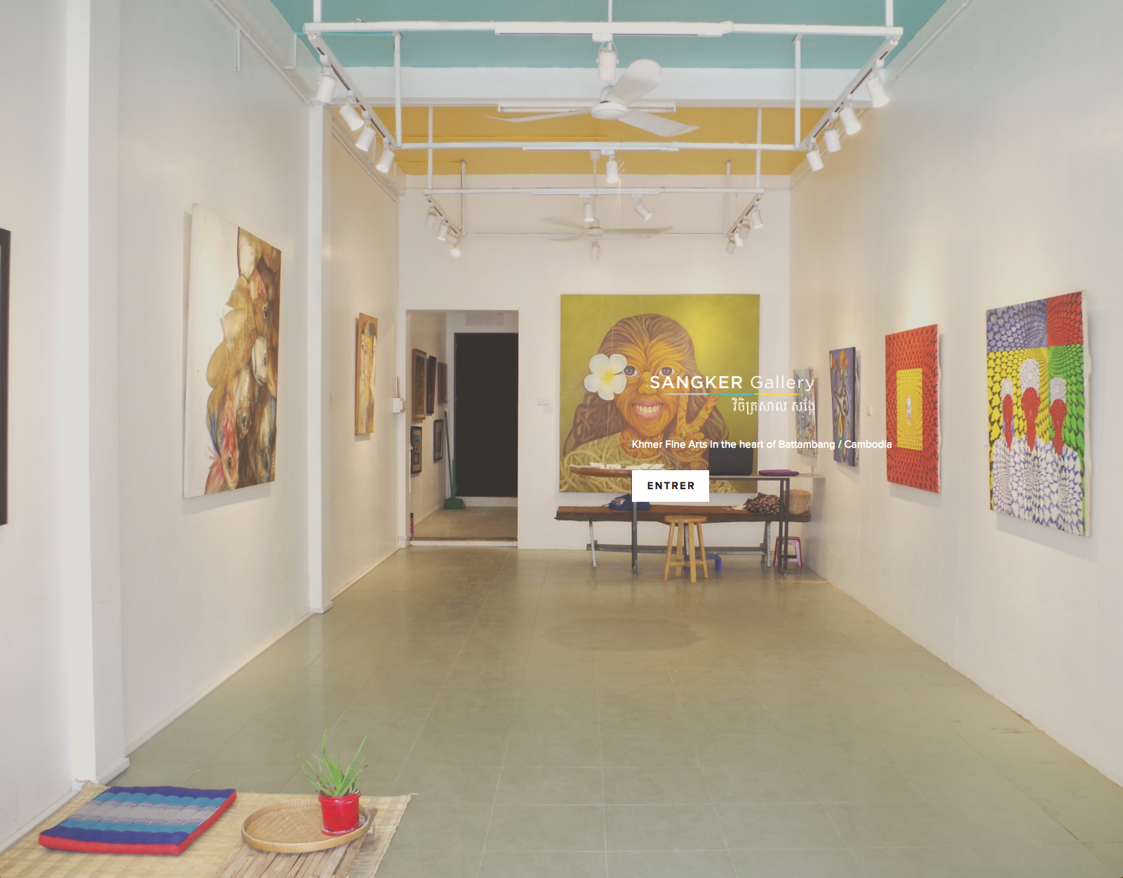 Création du site internet de la  Sangker Gallery  (Cambodge)