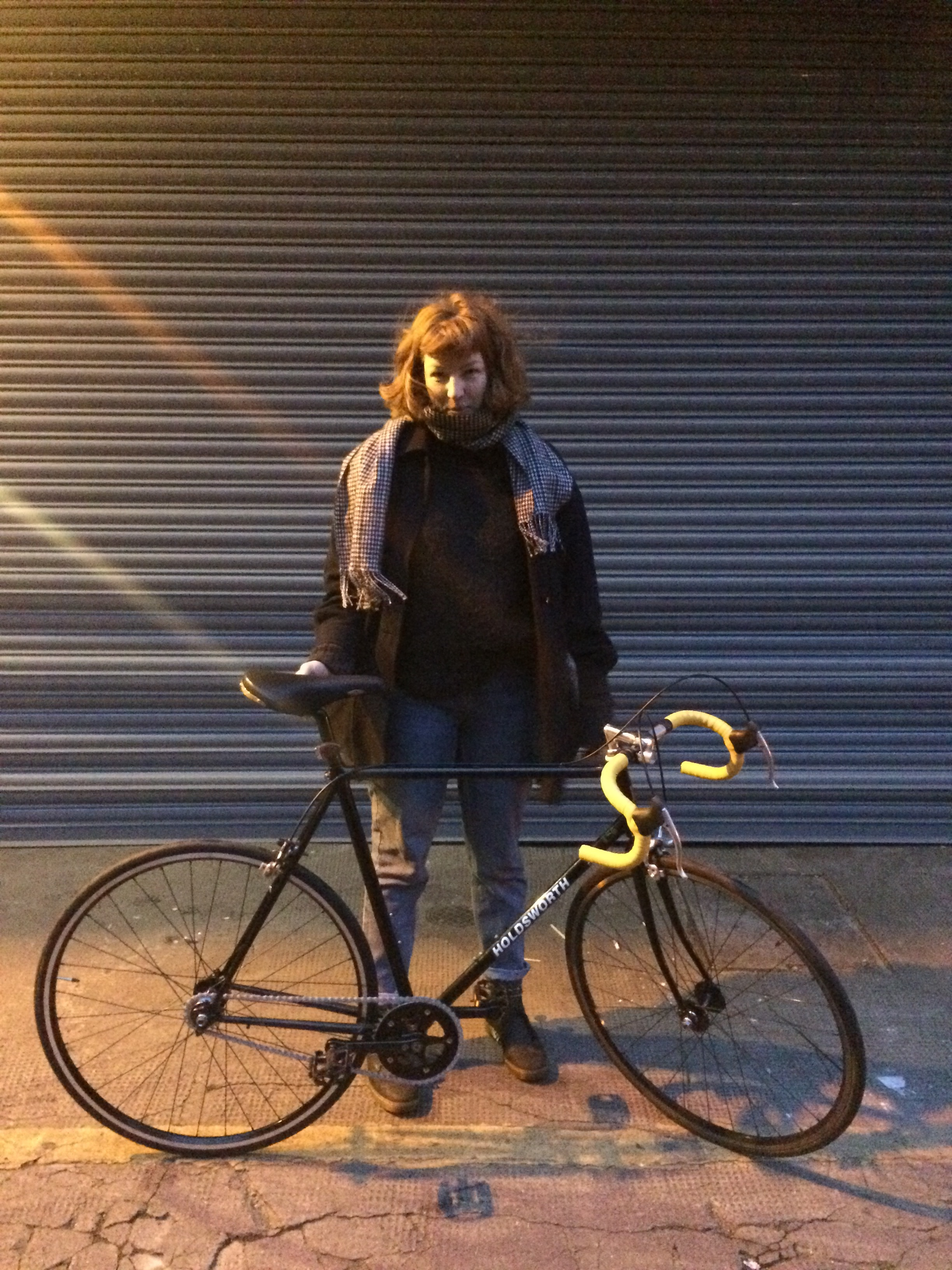 Isabel with her Holdsworth ready to ride