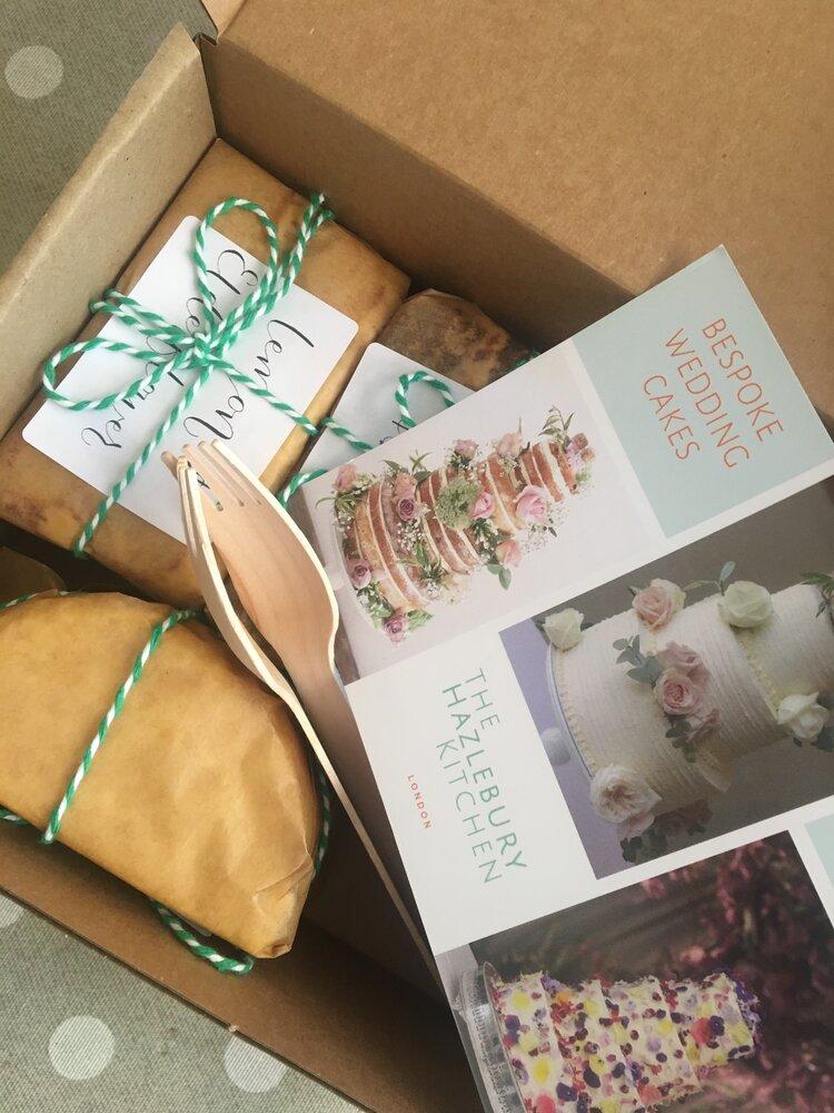 Postal Wedding Cake Tasting Box Free Delivery The Hazlebury Kitchen
