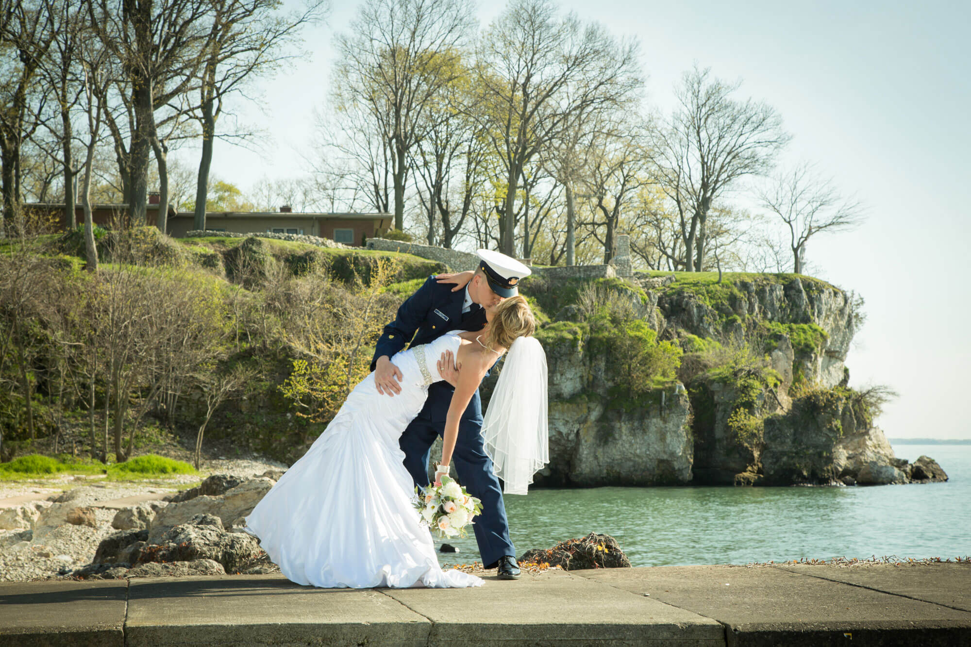 JORDAN + JUSTIN - Two high school sweethearts + Catawba Island equals one breathtaking background. And who doesn't love a man in Dress Blues.
