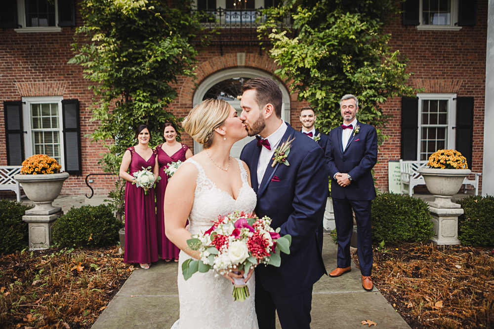 Amanda + Matt - Amanda and Matt's intimate wedding was top notch from the dress to the florals to the pizza food truck! Take a peek at the gorgeous photos captured by Love Is Greater Photography.