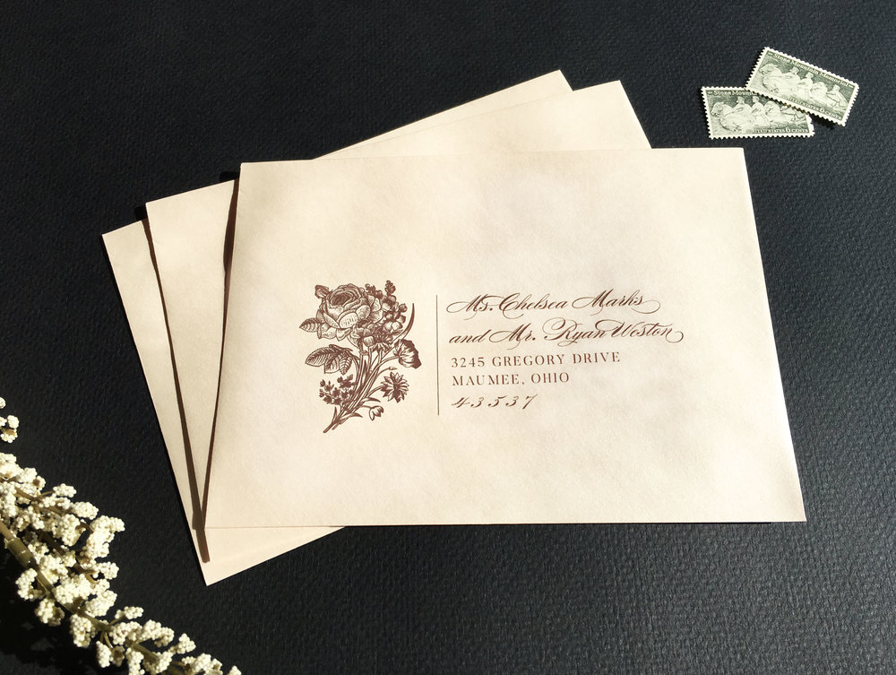 Addressing Wedding Invitations With