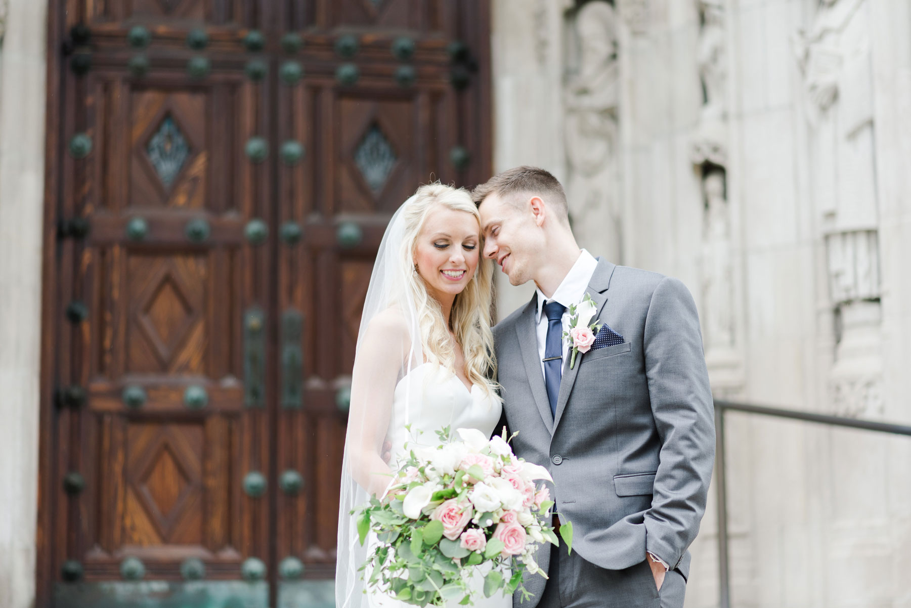 Samantha + Jake - Samantha was stunning in her Justin Alexander gown and can we talk about her heels?